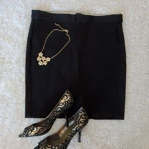 Black Pencil Gap Skirt